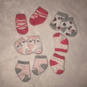 Other - 5 pairs of adorable infant socks